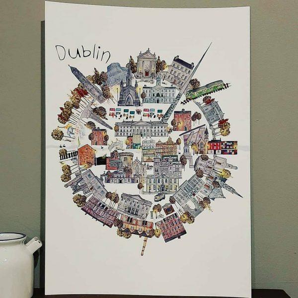 Dublin City Fine A4 Fine Art Print