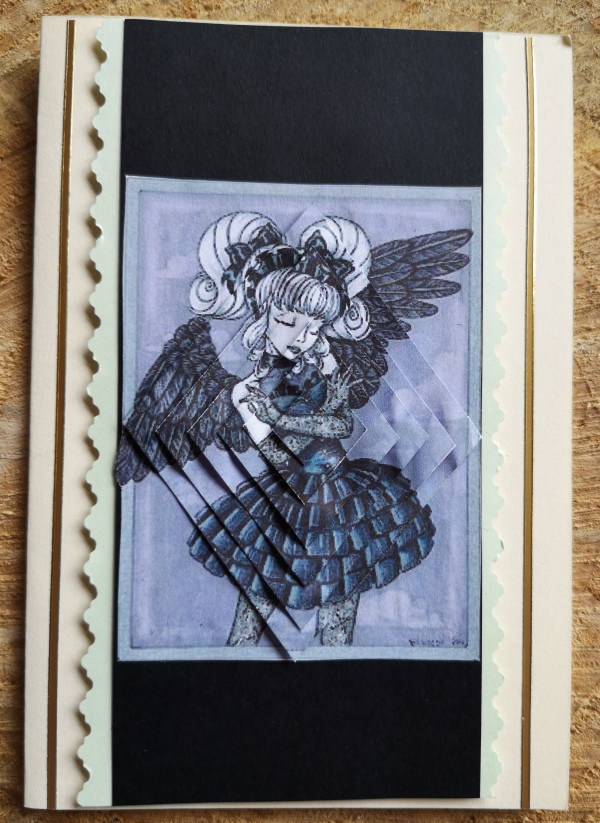 Dark Angel Halloween Card