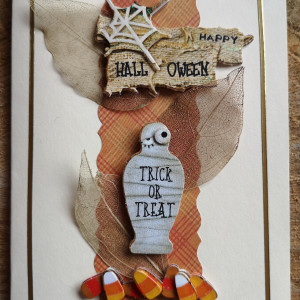 Mummy Halloween Card