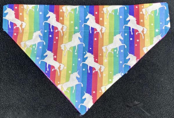 Reversible Dog Bandana - Unicorns and Rainbows