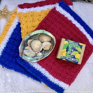 Set of 3 Eco-Friendly Cotton Wash Cloths