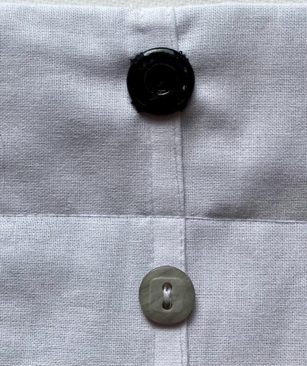 Reversible Tuxedo Dog Bandana - Grey and Black - IMG 6013