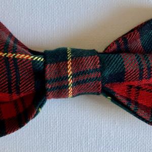 Festive Dog Bow Tie Classic Tartan