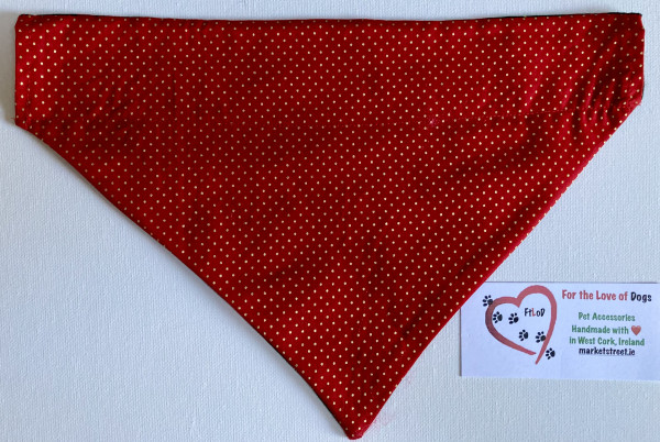 Christmas Reversible Dog Bandana Tartan / Red - IMG 6097 scaled