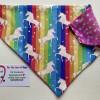 Reversible Dog Bandana - Unicorns and Rainbows / Stars - IMG 6107