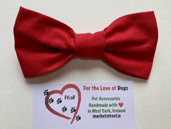 Dog Bow Tie Classic Red