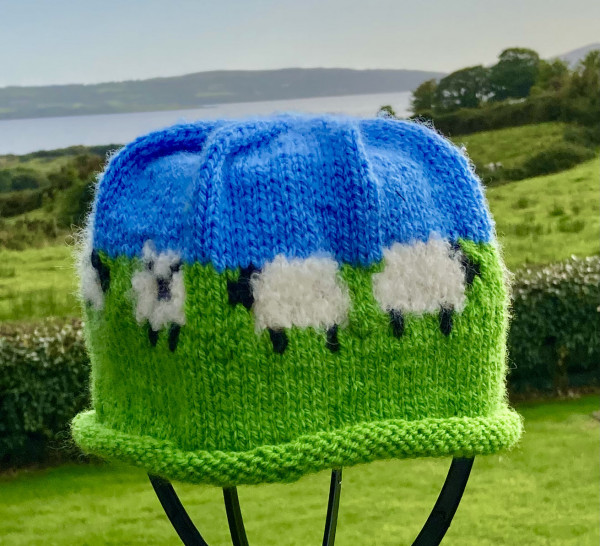 Adult Knitted Sheep Hat