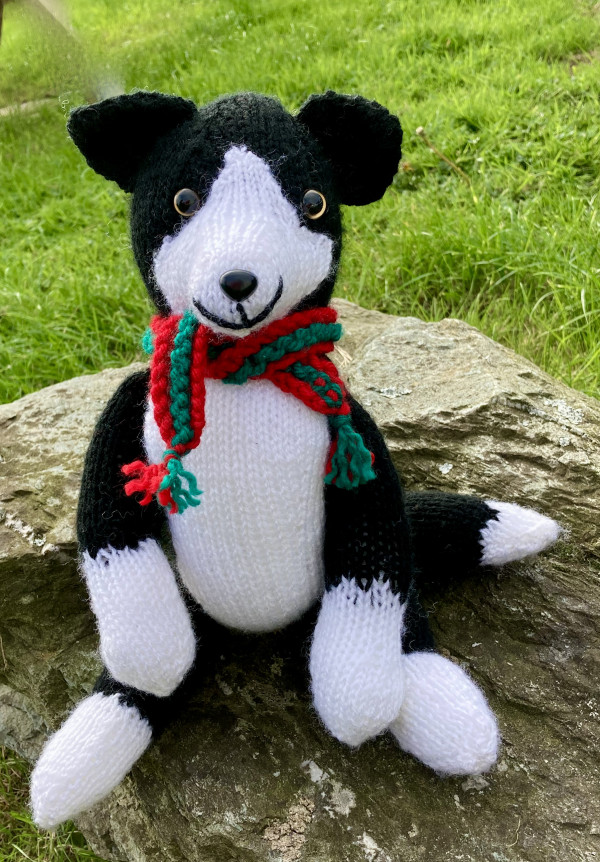 Seamus The Knitted Sheepdog Toy