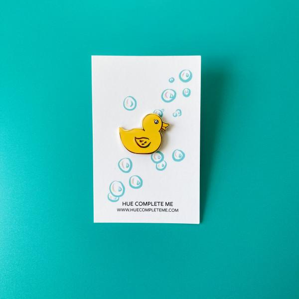 rubber duck enamel pin