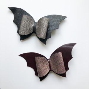 Halloween Bat Hair Bows