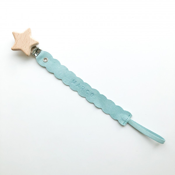 Personalised Leather Soother Clip - IMG 9803 scaled
