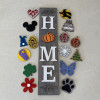 Home sign with interchangeable o