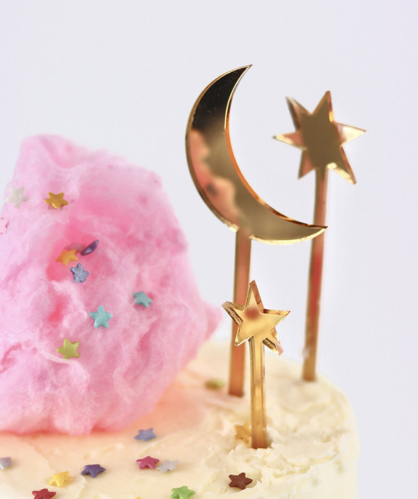 Moon and Stars Cake Topper - Set of 3 - LauraDempsey SL