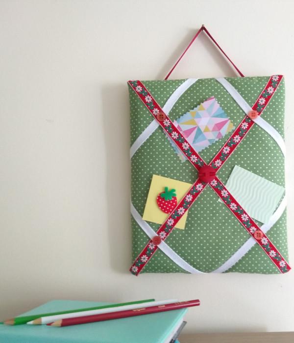 Mini Memo Board - Memo Board Green Stripe1