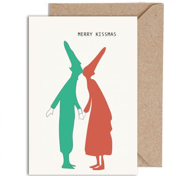Merry Kissmas Christmas Card