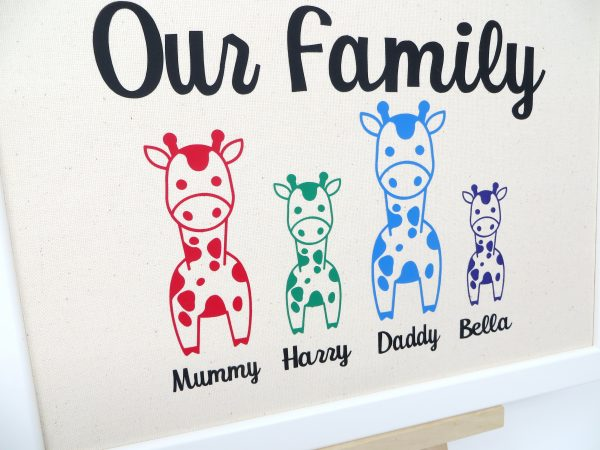 Personalised Family Portrait with Giraffes - OurFamily Giraffe Close Up 2 scaled