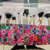 Pink Sugar Skulls Make-up Brush Roll-up