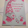 'Gnomebody loves you as much as I do' Card - PXL 20210120 080210351