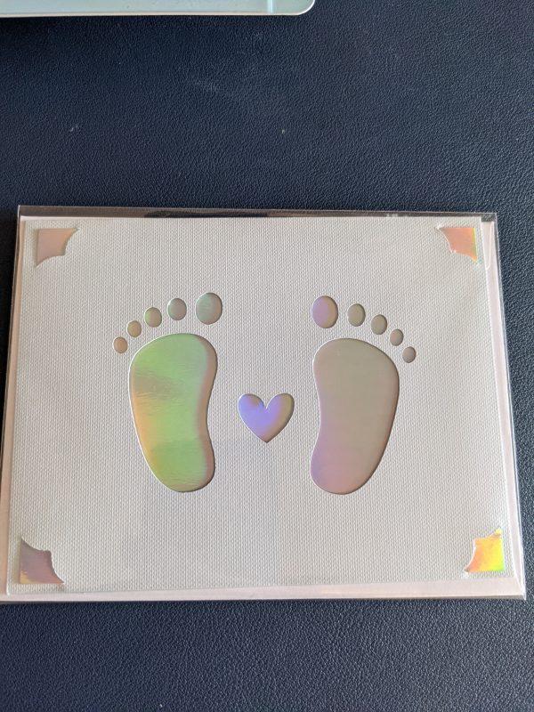 Baby Feet New Baby Card