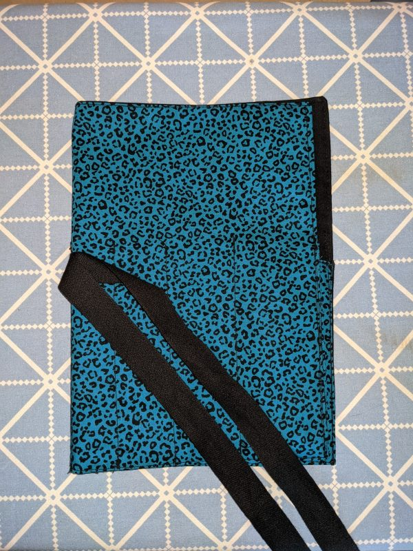 Teal Animal Print Make Up Brush Roll - PXL 20210912 164546619 scaled