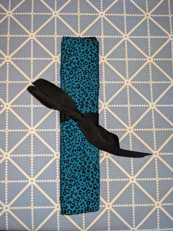 Teal Animal Print Make Up Brush Roll - PXL 20210912 164608387 scaled