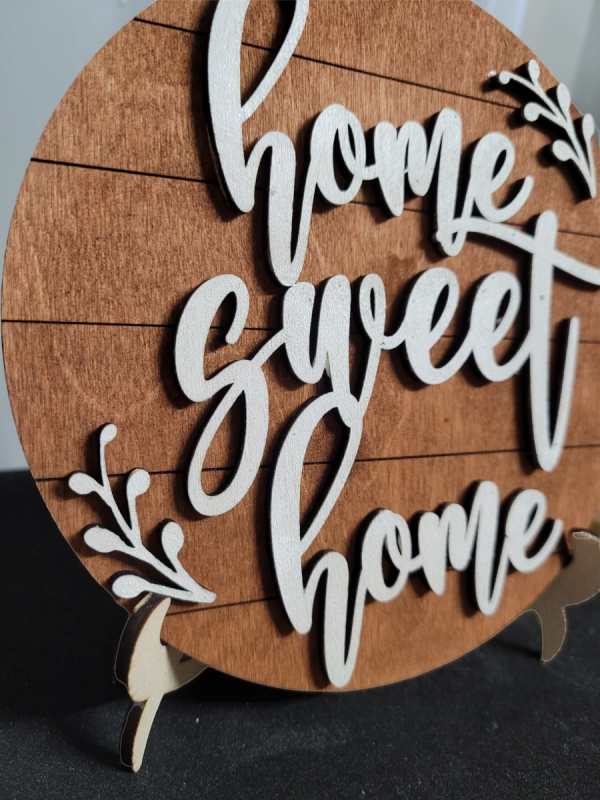 Free Standing Home Sweet Home Wooden Sign - PhotoRoom 20210902 143903