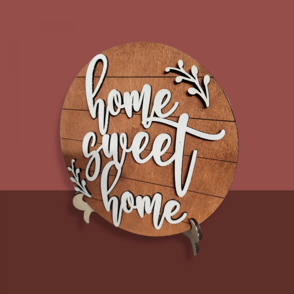 Free Standing Home Sweet Home Wooden Sign - PhotoRoom 20210902 144005