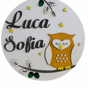 Personalised Owl Name Sign