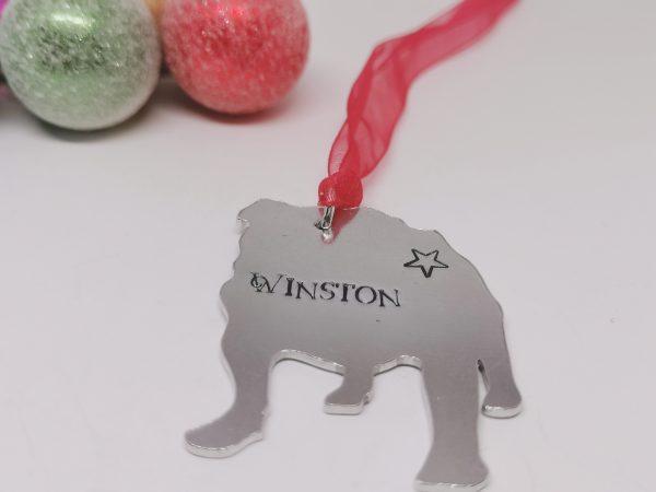 Bulldog Dog Breed Christmas Decoration - Polish 20210924 191110375
