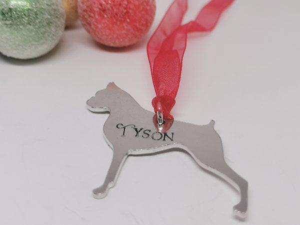 Boxer Dog Breed Christmas Decoration - Polish 20210924 191504502
