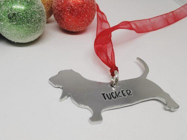 Basset Hound Dog Breed Christmas Decoration - Polish 20210924 191648024