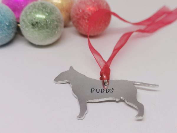 Bull Terrier Dog Breed Christmas Decoration - Polish 20210924 192102476