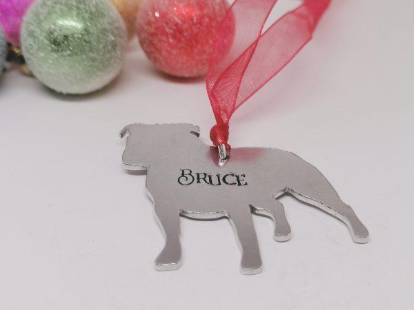 Staffy Dog Breed Christmas Decoration - Polish 20210924 192305424