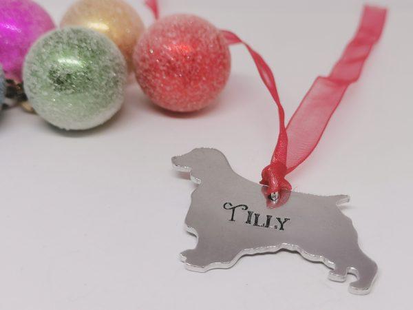 Springer Spaniel Dog Breed Christmas Decoration - Polish 20210924 192410337