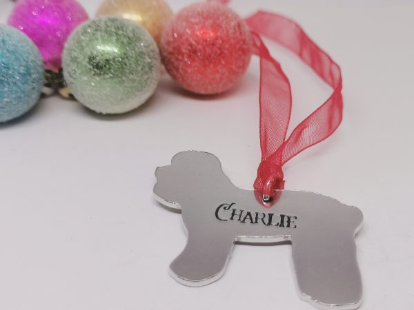 Poodle Dog Breed Christmas Decoration - Polish 20210924 192510326