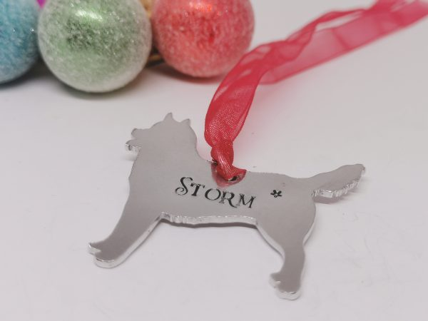Husky Dog Breed Christmas Decoration - Polish 20210924 192830175