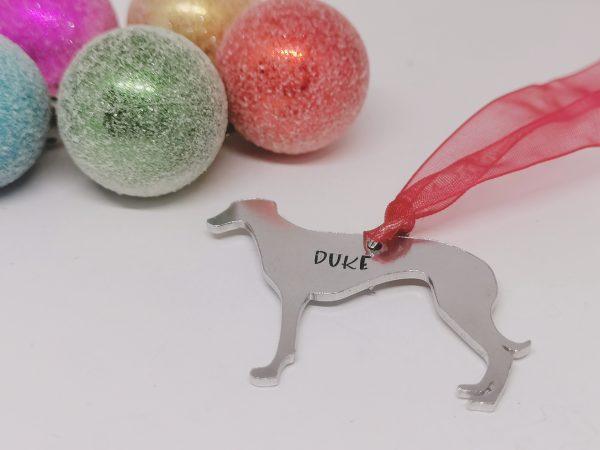 Greyhound Dog Breed Christmas Decoration - Polish 20210924 193002379