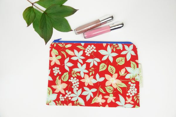 Red Floral Makeup Bag - RX302189 scaled