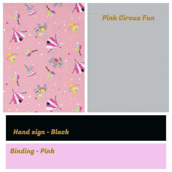 Irish Sign Language Personalised Name Bunting - SL Bunting Pink Circus Fun