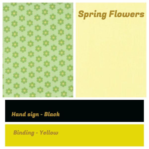 Irish Sign Language Personalised Name Bunting - SL Bunting Spring Flowers