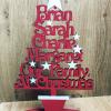 Freestanding Family Christmas Tree