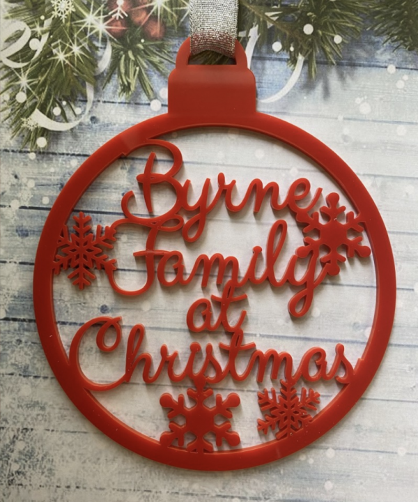 Family Name Christmas Bauble - Screenshot 2021 09 15 at 21.41.52