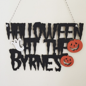 Halloween Family Sign