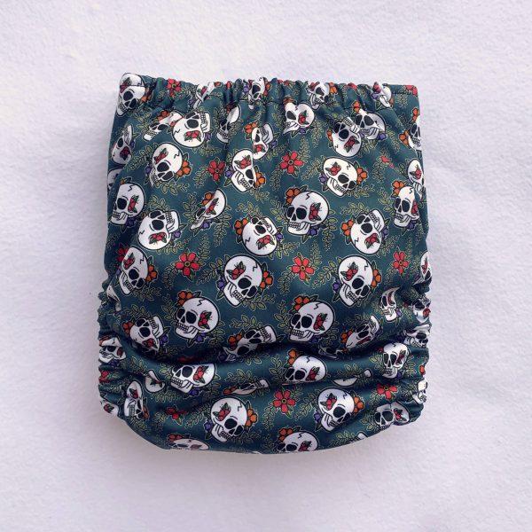Sugar Skull Pocket Cloth Nappy - SugarSkullb 1 scaled