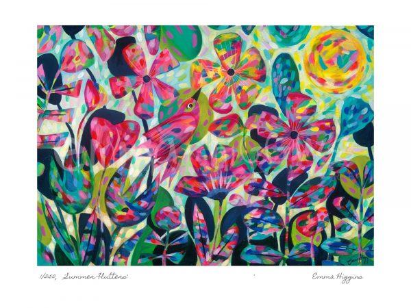 Summer Flutter Art Print - Summer FluttersWMP