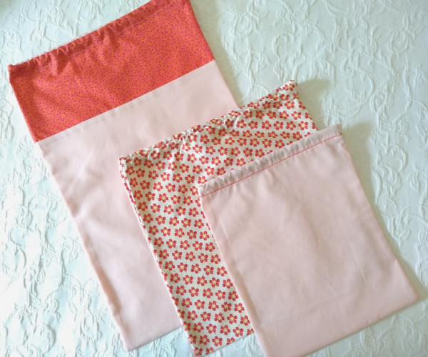 Travel Laundry Bag Set - Travel Set Coral 2 rotated