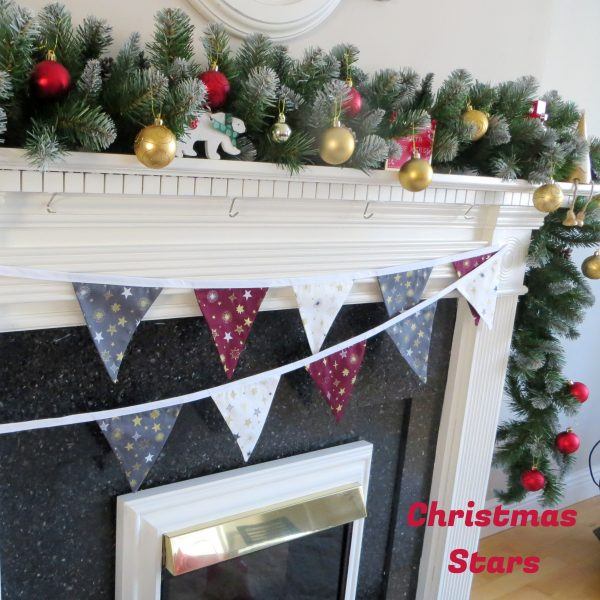 Christmas Bunting - X Mas Bunting White binding