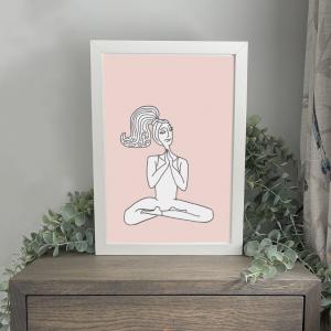 Yoga Lady A4 Print Wild Watermelon