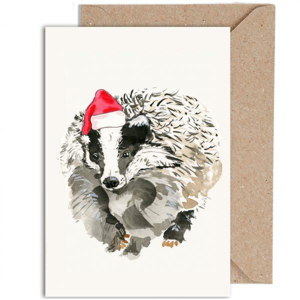 Christmas Badger Irish Wildlife