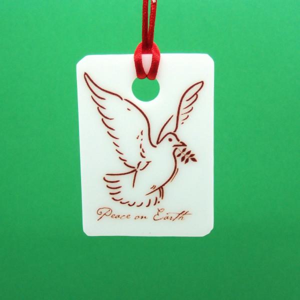 Fused-glass Christmas Decoration - Peace dove